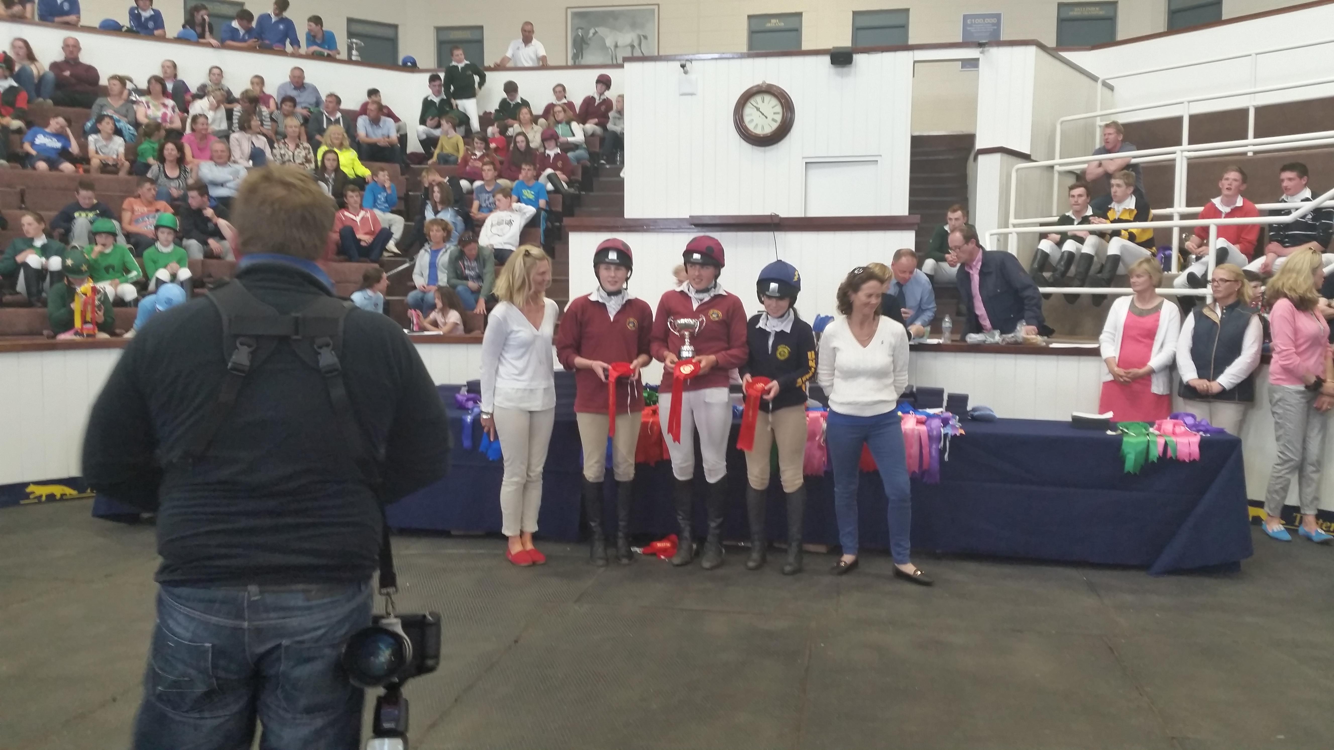 Senior Girls Team at Tetrathlon 2015