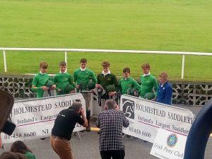 Conor accepting his team award.
