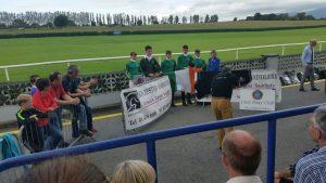 Padraig accepting his team award